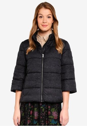 Sisley black Lightweight Padded Jacket. 0DAC0AAA304EEBGS_1