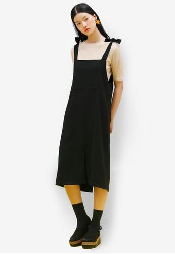 韓系時尚esprit cn蝴蝶結吊帶連身裙, 服飾, 洋裝