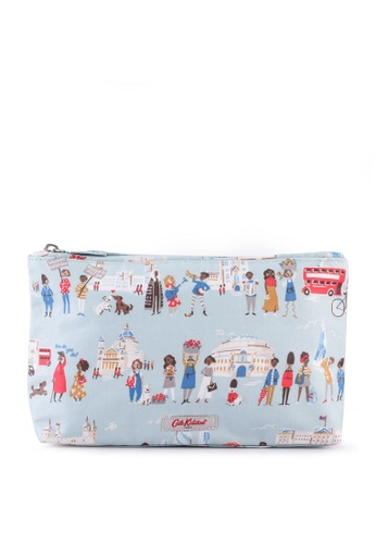 Cath Kidston blue London People Matt Zip Cosmetic Bag 1260EAC966FCB2GS_1
