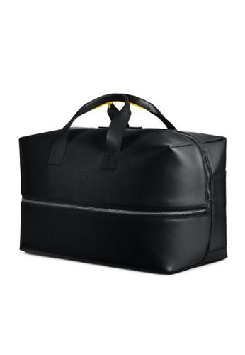 Lamborghini black Automobili Lamborghini® Pure Black Calf Leather Travel Bag Made in Italy 0B5B6AC82B2C2EGS_1