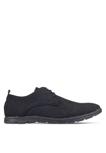 UniqTee black Round Toe Derby Shoes UN097SH0RFVCMY_1