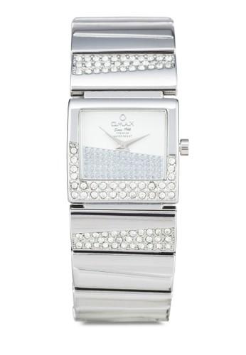 Omax OAB054S 閃鑽不銹鋼鍊esprit專櫃錶, 錶類, 淑女錶