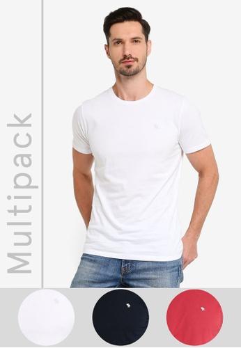 Abercrombie & Fitch multi Multipack Seasonal Crew Neck T-Shirt 85D0EAA5E97B2BGS_1