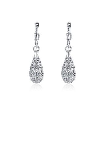 Glamorousky silver Elegant Retro Fashion Water Drop Earrings C73EBACCFABC94GS_1