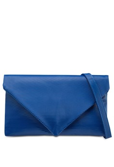Textured Clutch With Wrist Handle