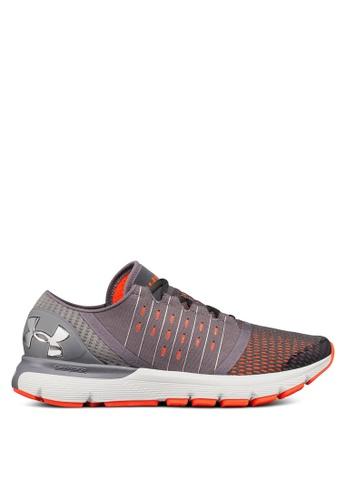 Under Armour grey UA Speedform Europa Running Shoes 0CB8BSH26721C1GS_1