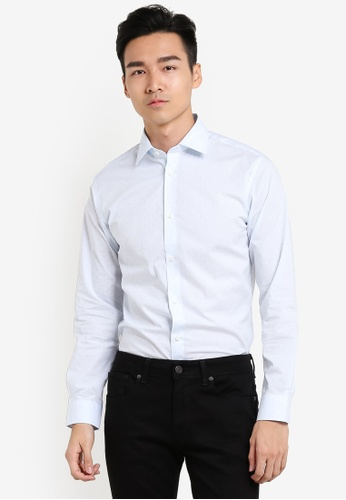 Selected Homme 藍色 Formal Slim Fit Long Sleeved Shirt SE364AA87FVOMY_1