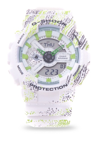 Casio white G-Shock Digital Analog GA-110TX-7A CA076AC17PKOPH_1