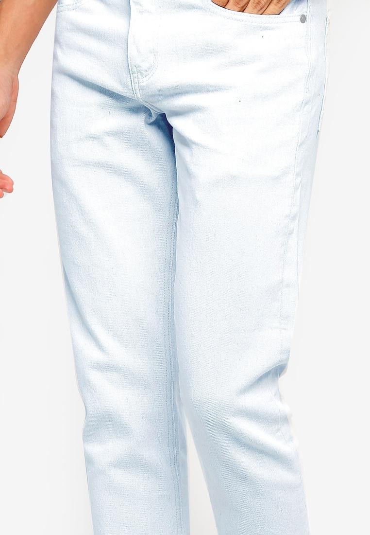 Stratus Jeans Crop Cotton Blue On Fit Slim RBIwq