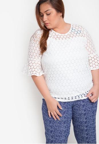 2ac8941d6c41d Shop Maldita X Plus Size Lila Lace Blouse Online on ZALORA Philippines