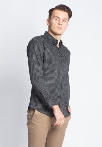 Kent & Crew black KENT&CREW LONG SLEEVES SHIRT ECF20AA3DEA4A5GS_1