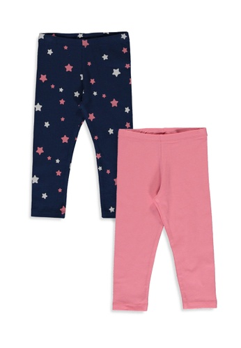 LC Waikiki pink 2-Pack Baby Girl Cotton Long Leggings 0FEA0KA1F53923GS_1