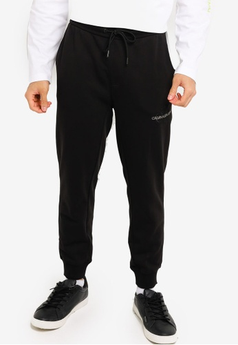 CALVIN KLEIN black Off Placed Iconic Joggers - CK Jeans 8A630AA8CDEC3AGS_1