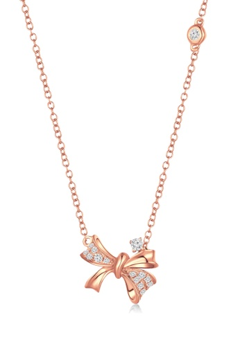 MaBelle gold Princess Butterfly 9K/375 Red Gold Diamond Necklace 35B80ACEA1C6E1GS_1