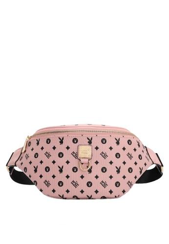 PLAYBOY BUNNY pink Women's Waist Bag / Waist Pouch / Belt Bag 985ABACFE34FF2GS_1