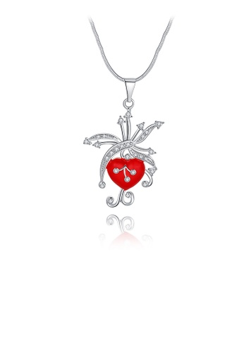 Glamorousky white Fashion Heart Pendant with Austrian Element Crystal and Necklace C8681AC9DC4F9DGS_1