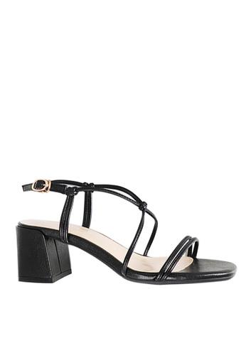 Twenty Eight Shoes 黑色 交叉綁帶涼鞋1800-6 990E9SHB4A8400GS_1