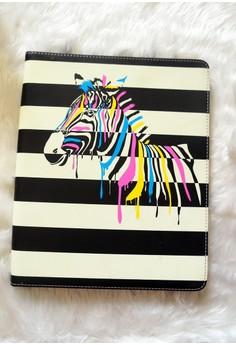 iPad Glow in the Dark case – Zebra