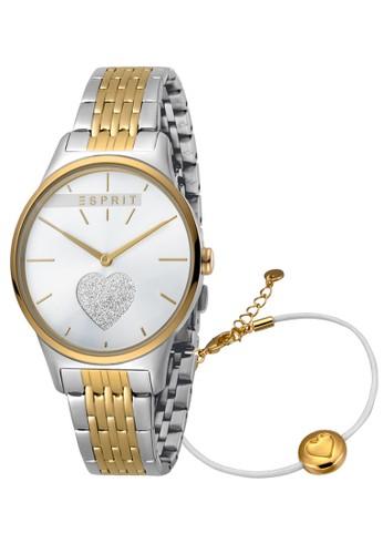 Esprit Watches gold and silver ESPRIT Love Silver Glitter Dial Dual Tone 21DDFAC2B7AE64GS_1