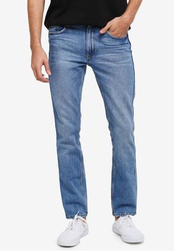 MANGO Man blue Straight-Fit Light Wash Bob Jeans MA449AA0T1EHMY_1