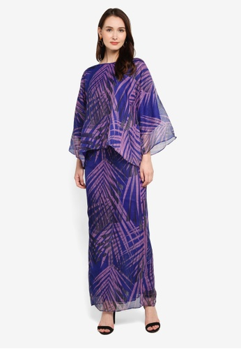 Zuco Fashion blue Midi Kurung Kedah Organza D7DBBAA9B97A17GS_1