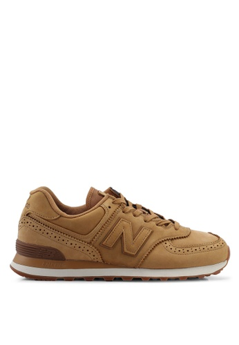 New Balance brown 574 Lifestyle Shoes 19E18SHFFA054EGS_1