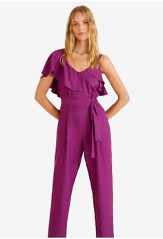 adb8c414a5b Mango purple Frilled Long Jumpsuit 4413DAA43E31FEGS 1