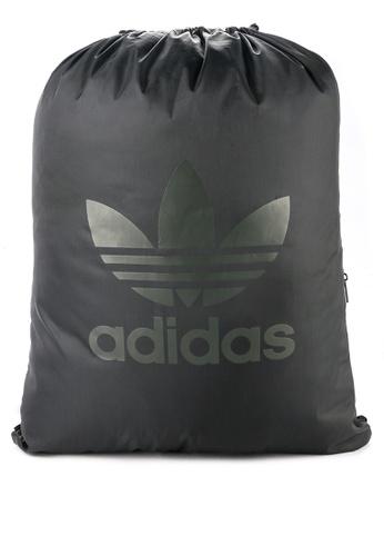 adidas black adidas originals gymsack trefoil C79CCAC3883BF7GS_1