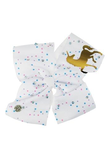 Jojo Siwa Jojo Siwa Bow With Clip (White Unicorn Rhinestone) E9EBCKCAC8B96FGS_1