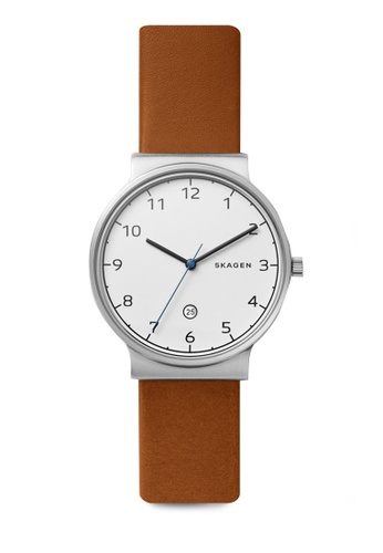 Skagen brown Ancher Analog Watch SKW6433 D40A8ACB27621DGS_1