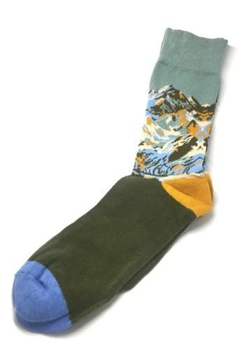 Splice Cufflinks Kuma Series Mountains Socks SP744AA56SZRSG_1
