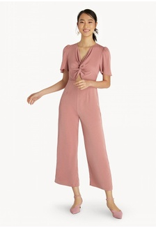 134177d500 Knotted Hollow Jumpsuit - Pink 427E1AA1323B53GS 1 Pomelo ...
