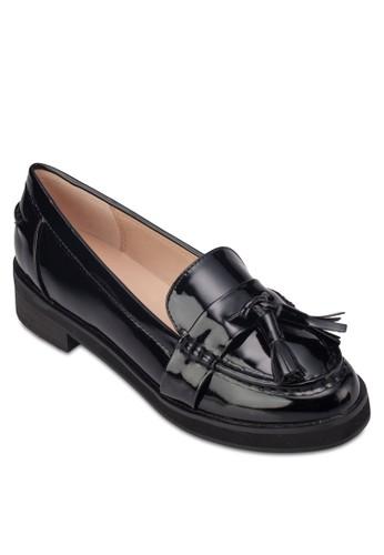 漆皮流蘇樂福鞋,zalora鞋 女鞋, 船型鞋
