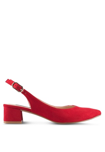 ZALORA red Backsling Pointed Low Heels A60D3SHC9BBC90GS_1