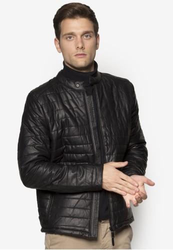 Dorian 軟襯仿zalora 評價皮機車外套, 服飾, 皮革外套