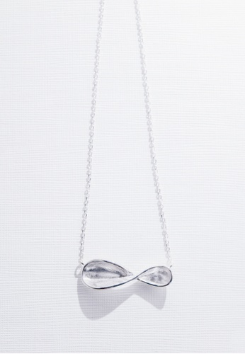 Paradeisos Jewellery silver Infinity 925 Sterling Silver Pendant Necklace PA467AC0GHUQSG_1