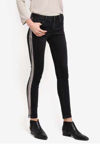 Mango black and silver Metallic Trims Jeans MA193AA0T1D7MY_1