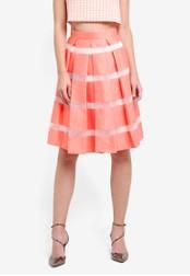 Vesper orange Cosmic Full Midi Skirt VE733AA0S79EMY_1
