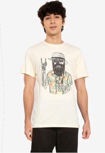 Jack & Jones beige Days Crew Neck Short Sleeves Tee CEFBCAA83F2087GS_1