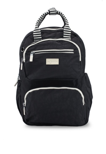 Shop Bagstationz Crinkled Nylon Backpack With Zebra Strap Online ... d372c22584593
