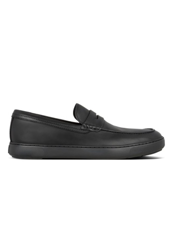 Fitflop black Fitflop Men Boston Smooth Penny Loafers All Black 8127BSHA523FF8GS_1