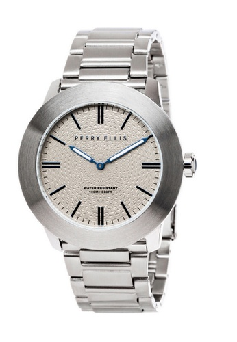 d25cc221d Perry Ellis silver Perry Ellis Slim Line Men 46mm Quartz Stainless Steel  Watch 03003-02