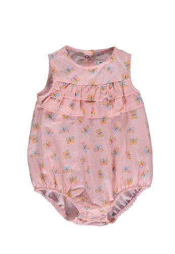 LC Waikiki pink Baby Girl's Bodysuit 9E57DKA8BE2CABGS_1
