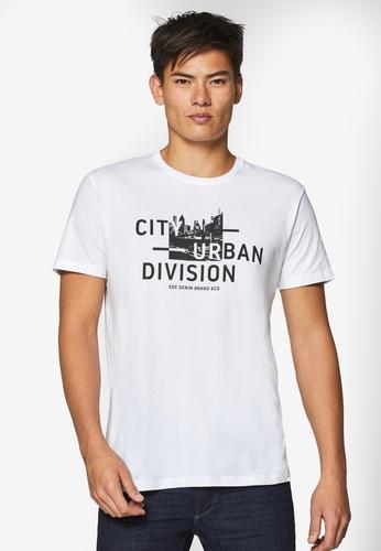 ESPRIT 白色 短袖T恤 395A9AA2D59729GS_1