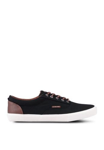 Jack & Jones black JFWVISION Canvas Sneaker 83DBBSH486491DGS_1