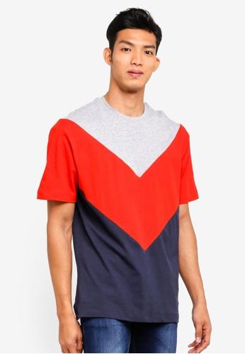Topman multi Red Chevron T-Shirt 7F61DAA335E572GS_1