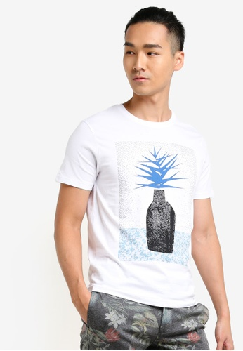 Selected Homme white Graphic Print Tee SE364AA64MEXMY_1