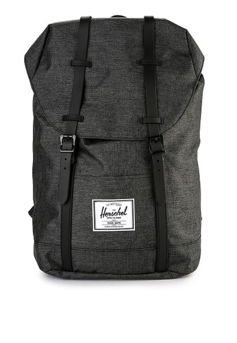 Herschel black Retreat Backpack F51D6ACFC73AFEGS_1