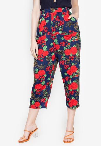 Chictees blue Sandra Floral Pants 9C026AA3D22FDFGS_1