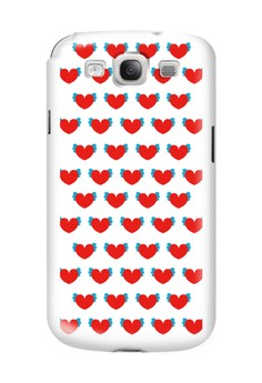 Winged Hearts Glossy Hard Case for Samsung Galaxy S3